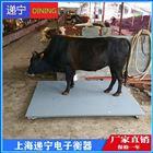 称猪电子磅2吨动物地磅四川养殖场电子秤