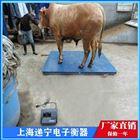 称牛带围栏3吨电子磅 双边开门猪笼秤
