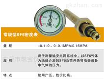 六氟化硫SF6环网柜开关柜40MMSF6密度压力表