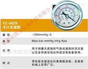 YEATHEI60MM100MM-不锈钢冲油耐震真空负压气压表