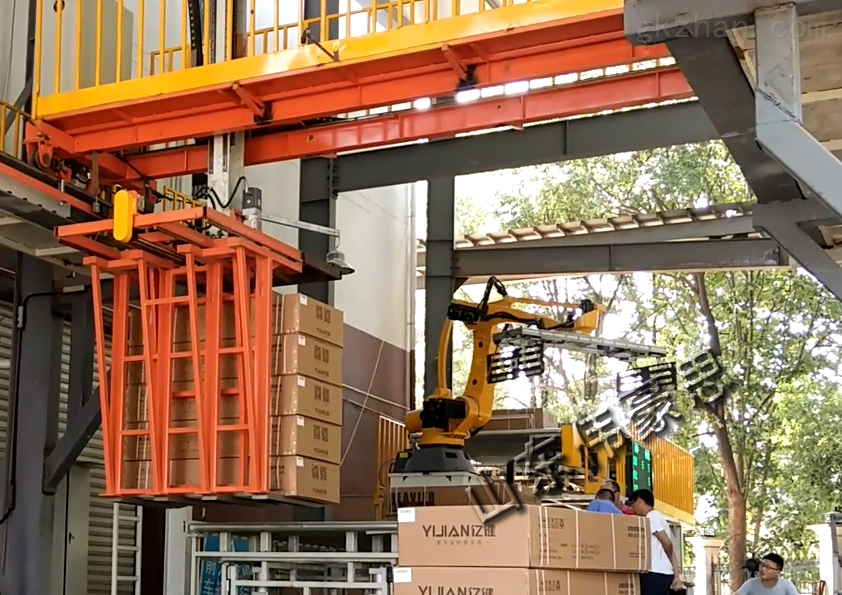 海南机器人装车 纸箱自动桁架式装卸车系统