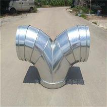 花都白铁螺旋风管生产厂家专业风管三通