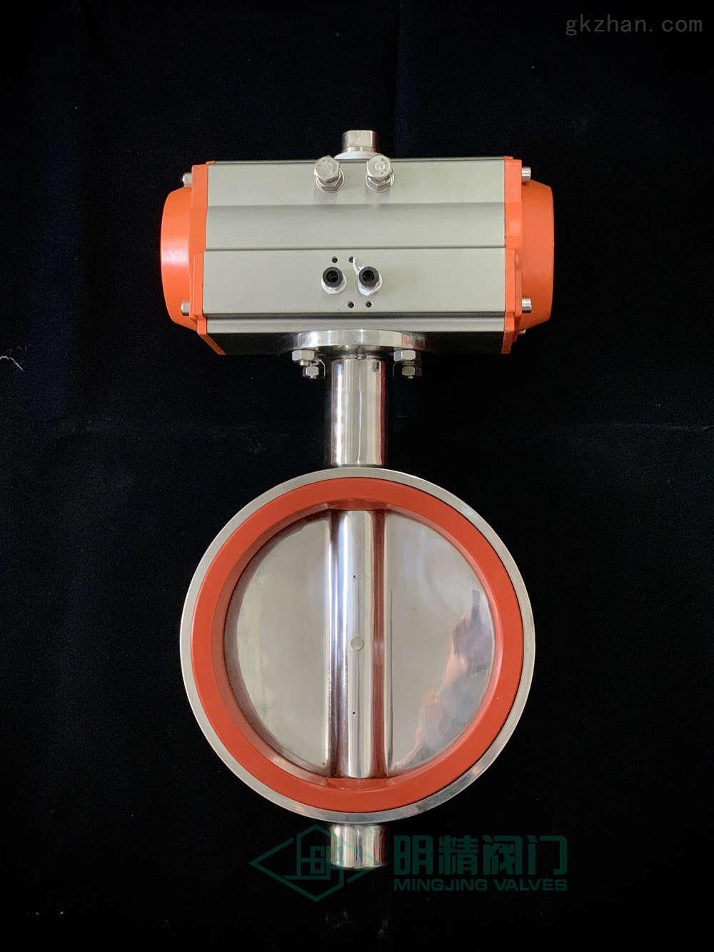 D681W不銹鋼氣動對夾衛生級蝶閥