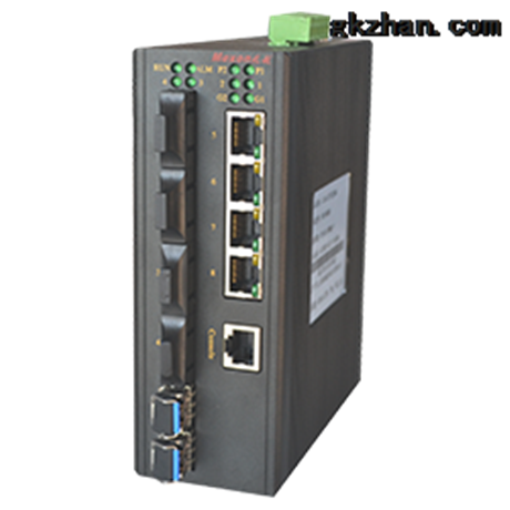 CAN 卡轨式百兆网管型工业以太网交换机