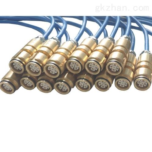 液压支架混合通讯电源光缆连接器8芯煤矿环境中通过光导纤维传输信息的通信。矿用光纤通信传输的信息,包括工业电视图像、话音及数据等。矿用光纤通信传输的是光信号其优点是: 无电火花、具有本质安全性、无电磁干扰、无雷电感应、 有良好的电气绝缘性、具有大的传输容量等。此外,光缆的重量轻、柔性好、制造长度大、利于敷设与施工, 还可以节省大量铜