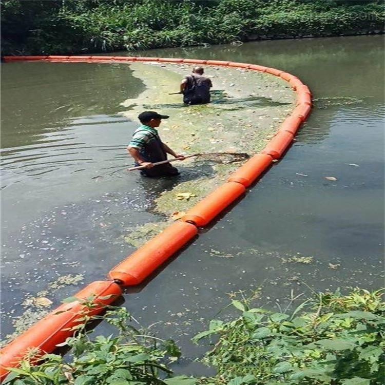 高强度塑胶浮筒 滚筒状河道阻拦垃圾浮筒