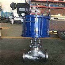 三精J641H气动法兰截止阀碳钢双作用气缸