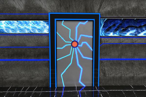 科幻机械门